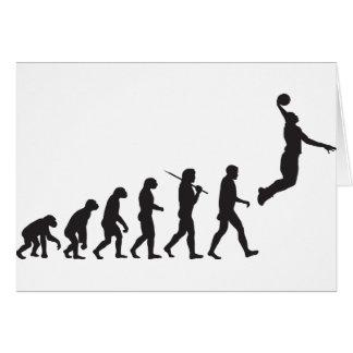 Evolución - salto del baloncesto tarjeta de felicitación