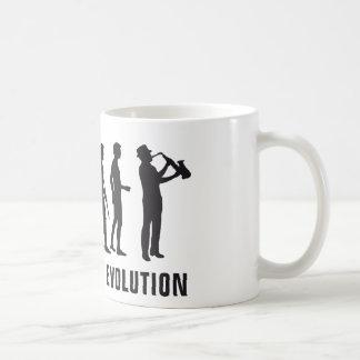 Evolución saxophon taza