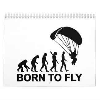 Evolución Skydiving llevado para volar Calendario De Pared