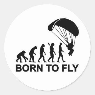 Evolución Skydiving llevado para volar Pegatina