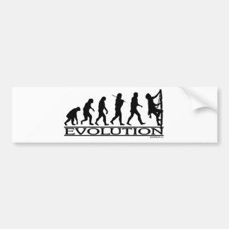 Evolución - subiendo pegatina de parachoque