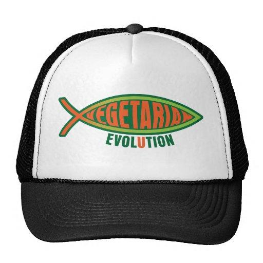 Evolución vegetariana gorros