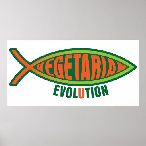 Evolución vegetariana póster