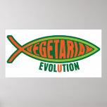 Evolución vegetariana posters