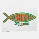 Evolución vegetariana toalla de mano