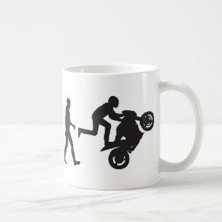 Evolución-Wheelie Taza De Café