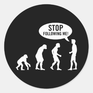 evolution2 round stickers