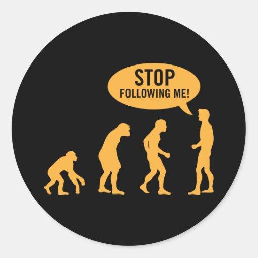 evolution3 classic round sticker
