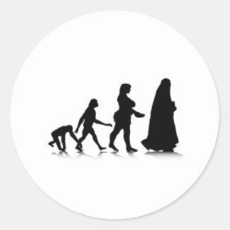 Evolution_11 humano pegatina redonda