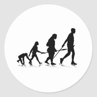 Evolution_2 humano pegatina redonda