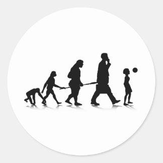 Evolution_6 humano pegatina redonda