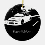 Evolution 9 Rolling shot Double-Sided Ceramic Round Christmas Ornament
