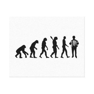Evolution Accordion player Canvas Print