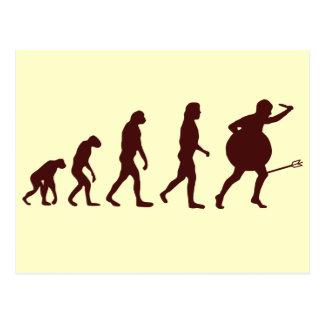 Evolution Arrow Postcard