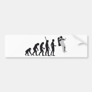 evolution astronaut etiqueta de parachoque