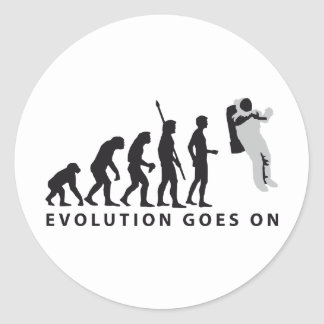 evolution astronaut classic round sticker