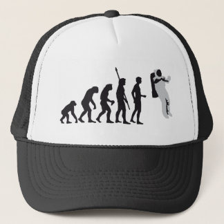 evolution astronaut trucker hat