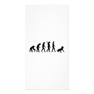 Evolution Baby Photo Card