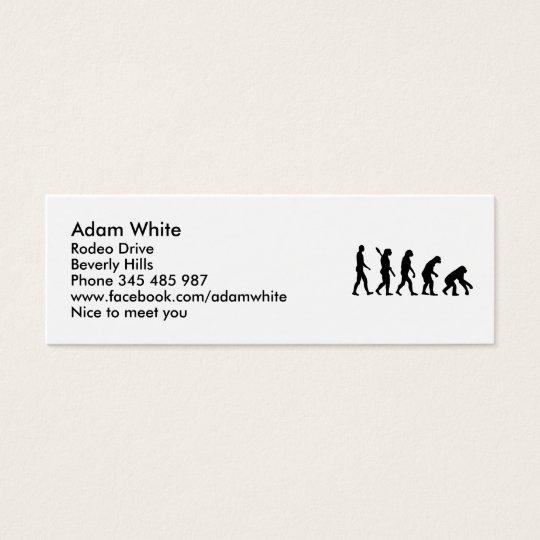 Evolution backwards mini business card