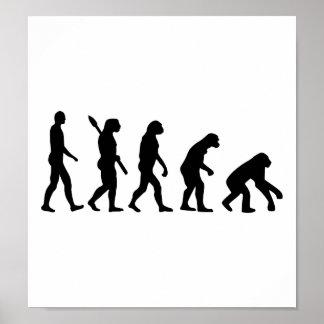 Evolution backwards poster