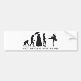 evolution ballet autoaufkleber