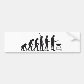 evolution barbecue bumper sticker