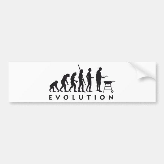 evolution barbecue bumper sticker