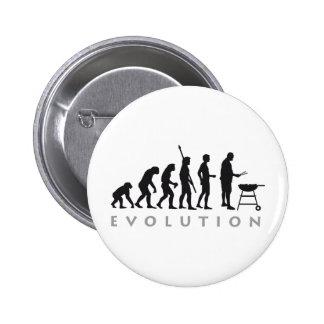 evolution barbecue pinback button