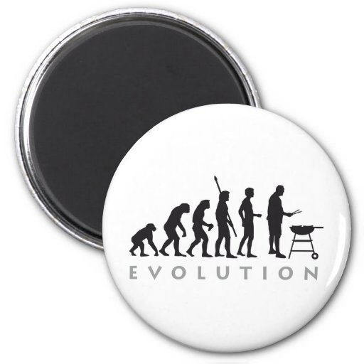 evolution barbecue refrigerator magnets