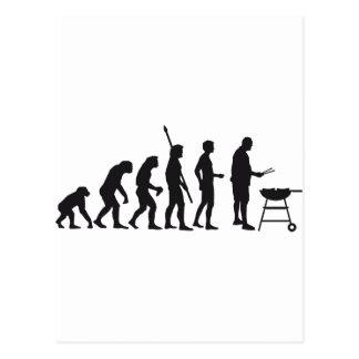 evolution barbecue post card