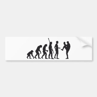 evolution baseball bumper sticker