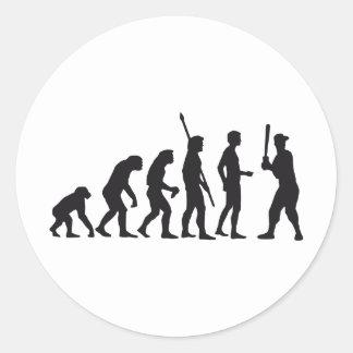 evolution baseball classic round sticker