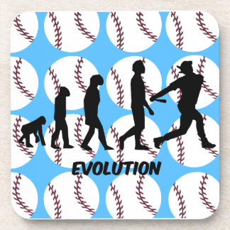 evolution baseball drink coaster