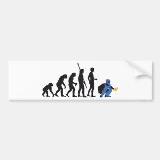 evolution baseball more catcher bumper sticker