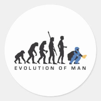 evolution baseball more catcher classic round sticker