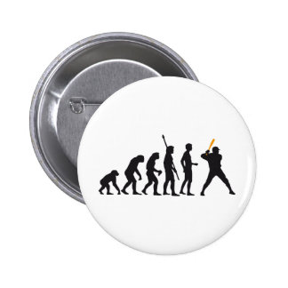 evolution baseball pinback button