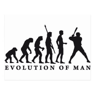 evolution baseball postcard