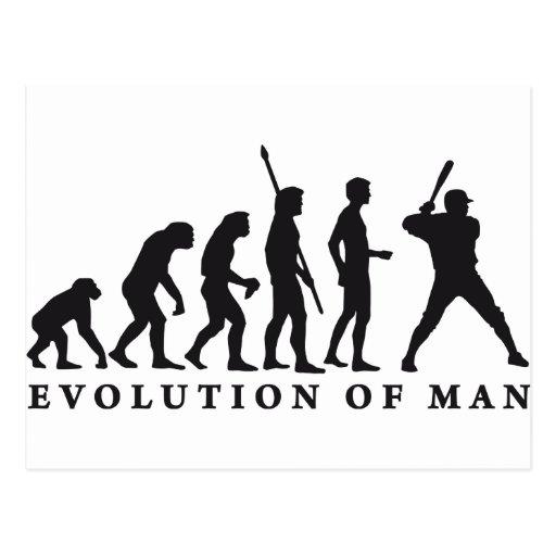 evolution baseball postcards