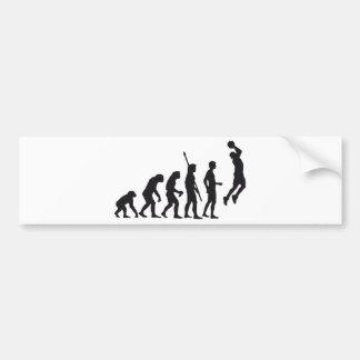 evolution basketball bumper sticker