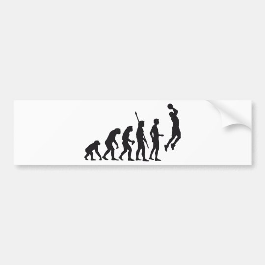evolution basketball bumper sticker