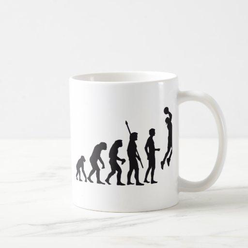 evolution basketball coffee mug