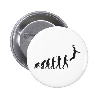 Evolution - Basketball Jump Pinback Buttons