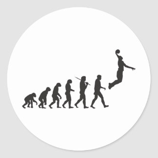 Evolution - Basketball Jump Classic Round Sticker