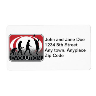 Evolution Basketball Personalized Shipping Label