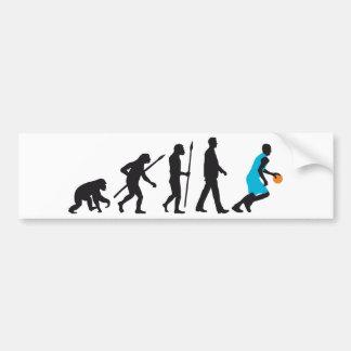 evolution basketball more player bumper sticker