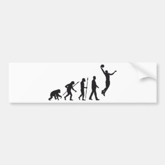 evolution basketball more player bumper sticker