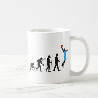 evolution basketball more player coffee mug