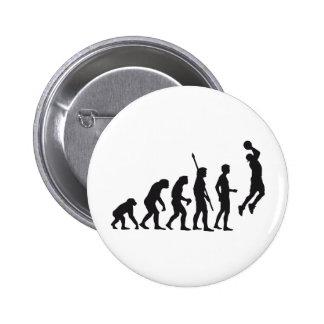 evolution basketball pinback button