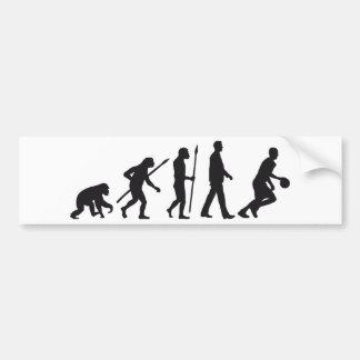 evolution basketball player pegatina para auto