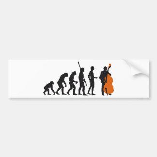 evolution bass car bumper sticker